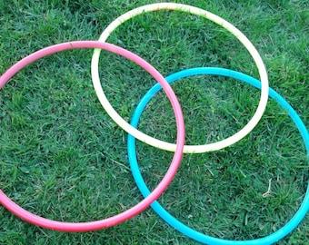 Set of 3 Juggling Hoops Mini Hoops polypro hoops