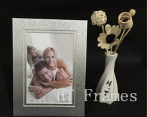 """10Pieces!Handmade Double Silver Cardboard Picture Frame. Delicate and environmental protection for4X6"""".Paper Photo Frame.Can be customized"""