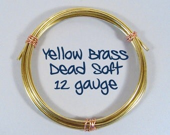 12ga 25ft DS Yellow Brass Wire