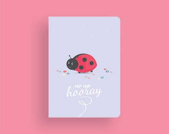 Birthday Card • Little Ladybug by Celebratink • Greeting Card • Purple