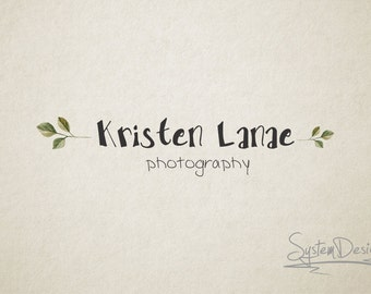 Premade logo and Photography logo - Watermark. Flower logo. Leaves logo