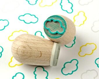 White cloud - mini stamp Ø 1,4 cm