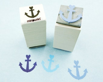 Stamp with heart anchor