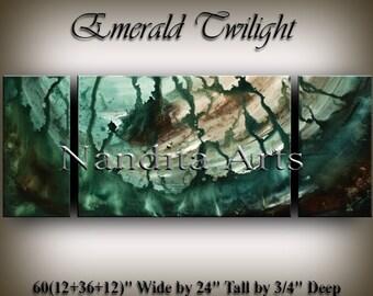 Art Painting, ORIGINAL Modern Art, Emerald Fine Art, Modern Art Decor, Home Decor, Office Wall Hanging, Large Wall Art Decor by Nandita
