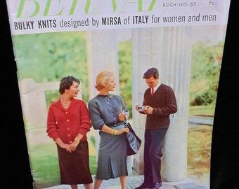 Knitting Magazine Bernat Handicrafter Knitting Book Number 65 Vintage 1958