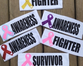 Awareness Fighter Survivor Ribbon HEADBANDS