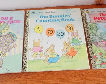 Three Vintage Little Golden Books.