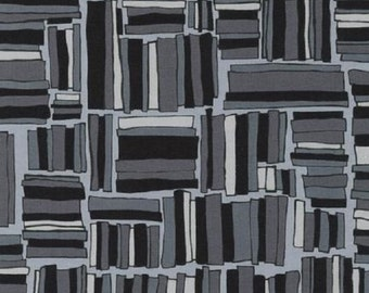 SALE!! 1/2 Yard - Blueprint Basics - Charcoal - AVW-14541-184 - Valori Wells - Robert Kaufman Fabrics - Black Fabric Yardage