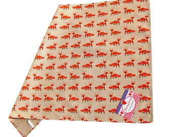"Kitchen towel in Retrostyle ""Foxes"" Placemat"