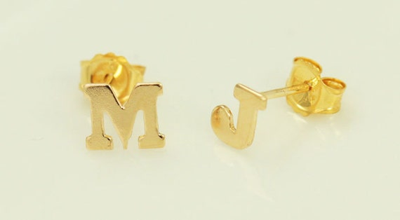 alphabet stud earrings alphabet stud earrings 14k gold filled letter jewelry a to 256
