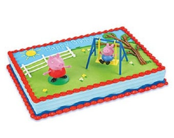 Peppa Pig Cake Topper Peppa Pig party supplies FREE SHIPPING