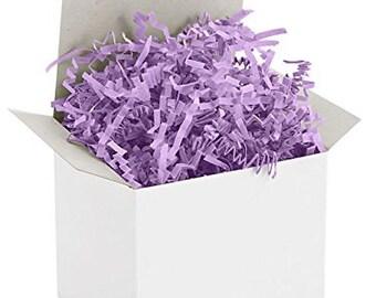 Crinkle Cut/Shred Paper Basket and Party Bag Filler 8 oz pkg ColorLilac  Free Shipping