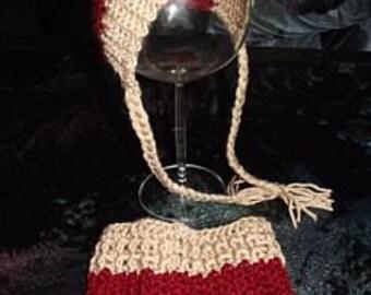 Crochet baby set-'Bonnet & rock' newborn, reborn - photoshoot - 50 / 56-0-3 months