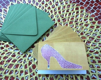 """Set of 6 Notecards """"Those shoes!"""""""