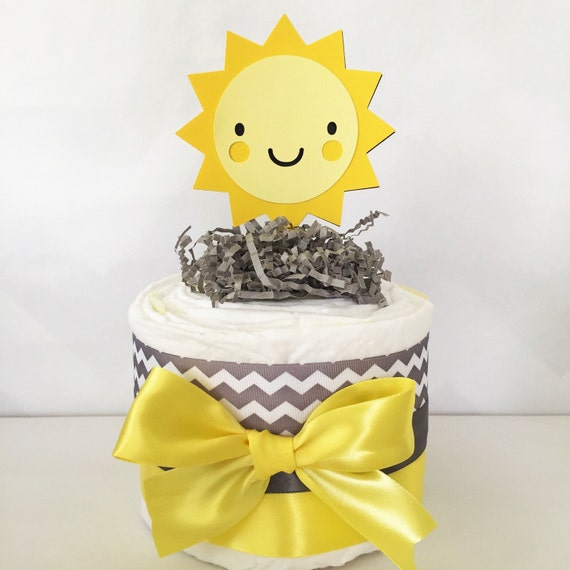 you are my sunshine baby shower cake