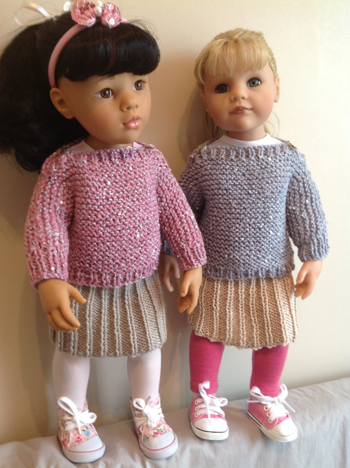Knitting Clothes For Dolls : Dolls fashion clothes knitting pattern to fit doll