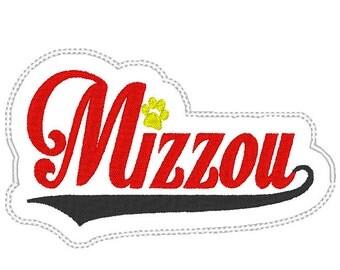 Mizzou Headband Slider design Instant Download