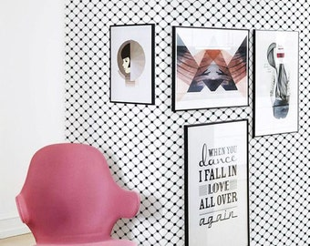 Removable self-adhesive black and white modern vinyl Wallpaper wall sticker - C057