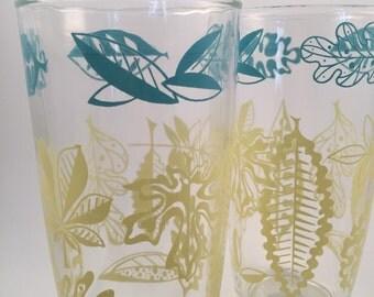 Set of (4) Hazel Atlas water glasses MINT