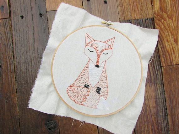 Fox Hand Embroidery Pattern