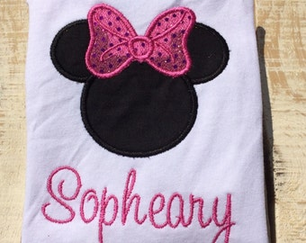 Mouse silhouette Shirt- Personalized Mouse Shirt