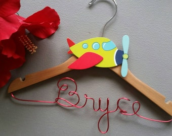 Personalized New Baby Boy/Small Child Custom Wire Hanger - Great shower gift - Birthday Gift