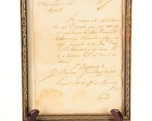 Historic 1868 Military Mexican Letter Signed by Francisco Fernandez Castillo