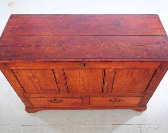 18th century French Provencial 4feet carved Oak Chest-NICE!!