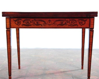 Italian Venetian Renaissance Beautiful Antique Game Table w/Folding Top
