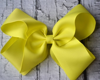 Yellow Hairbow- Baby Girl- Hairbow