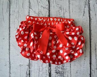 Red Polka Dot Bloomers- Smash Cake-Newborn Photo Prop