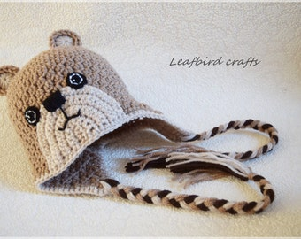 Crochet newborn hat, Teddy bear hat, Newborn photo prop, newborn hat, newborn boy, newborn girl, newborn prop