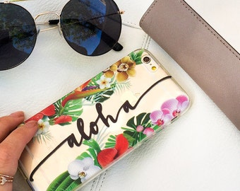 """Clear Plastic Case Cover for iPhone 6 (4.7"""") Aloha"""