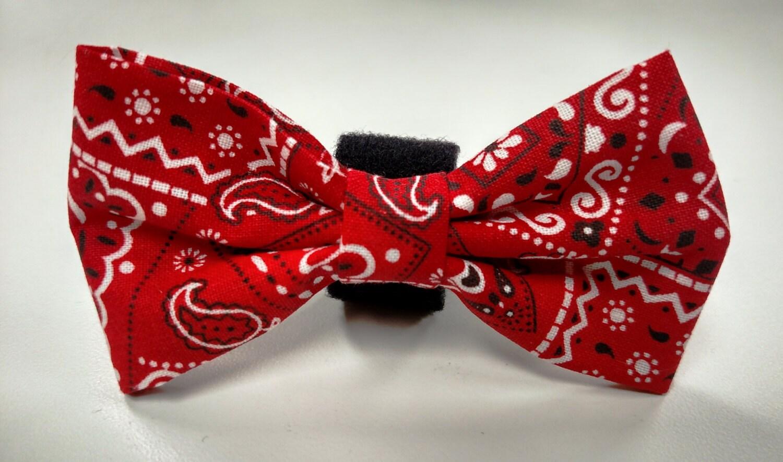 bandana print bow tie collar accessory
