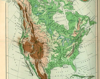 Map Of UNITED STATES America S Atlas Antique Map United - Us map 1905