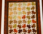 WEEKEND SALE - Pattern Fall Leaves Fall Fat Quarters Friendly Pattern Cozy Quilt Designs