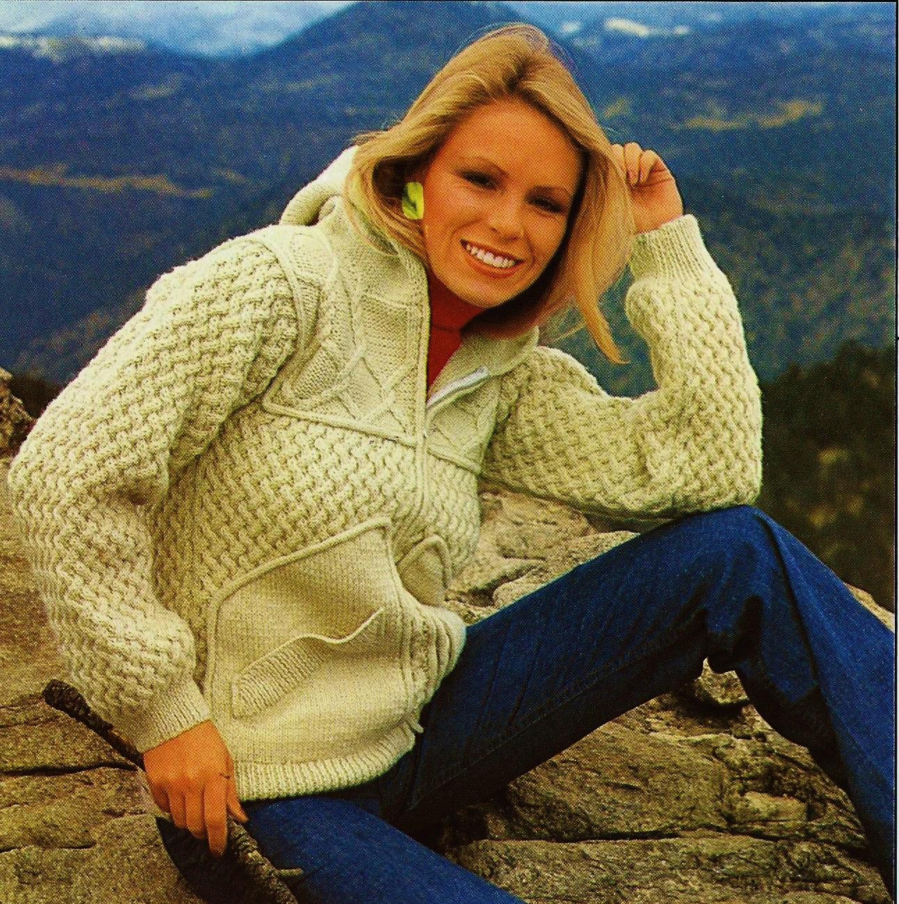 Knitting Pattern Ladies Hooded Jacket : DIY Hooded Aran Cable Knit Jacket PDF Vintage by ...