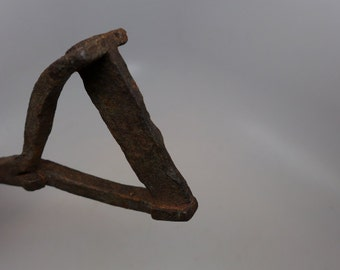 Antique Branding Iron - Forged Branding Iron - Cowboy Tools - Ranch Tools