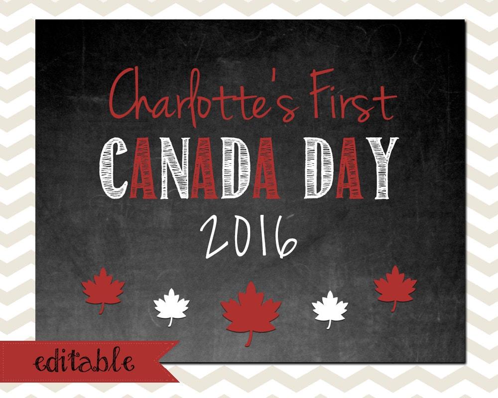 Chalkboard Calendar Canada : Baby s first canada day chalkboard editable digital