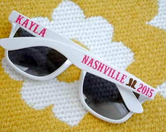Nashville Bachelorette Bridal Party Sunglasses - Personalized - Girls Trip