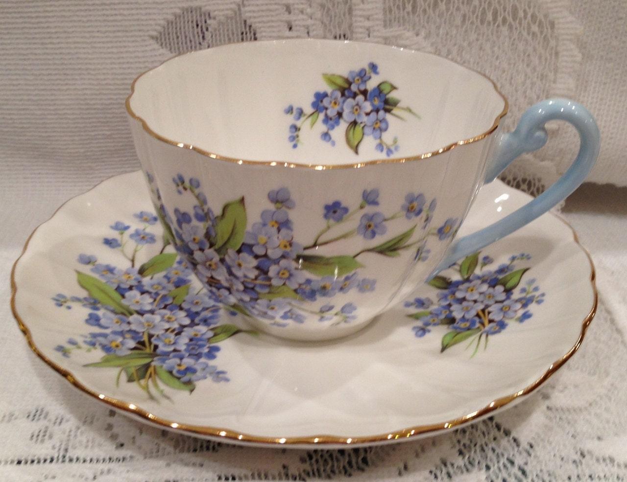 Vintage English SHELLEY Fine Bone China Tea Cup & Saucer