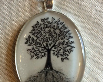 Custom Ashen Creations Family Tree of Life or personalized Cremation ash necklace pendant and keepsake for pets