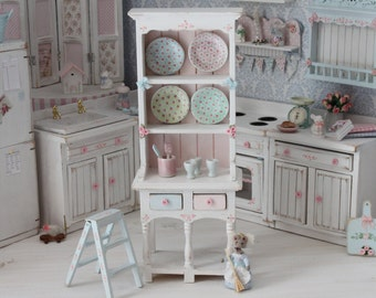 Cupboard for dollhouses. Scale 1 12