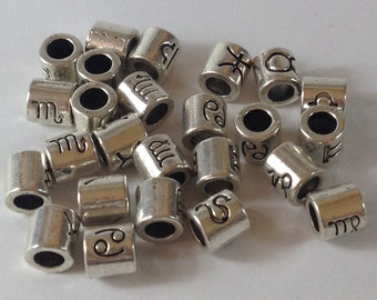 25 pearls to wide hole silvered 6 mm you mark horoscope. Hole 5 mm.