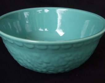 Vintage Blue Haeger Bowl , Turquoise Console or Serving Bowl 1969 Mid Century Design