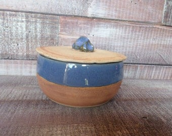 Vintage Handmade Clay Pot / Container