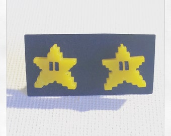 Super Mario Inspired Invincibility Star Acrylic Earrings