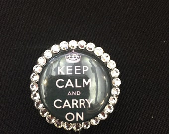 Keep Calm and Carry On ID Badge Holder Nurse badge