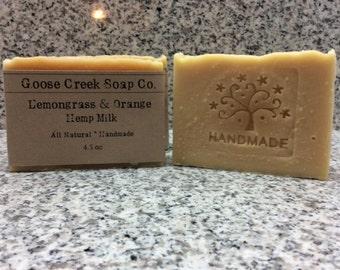 Lemongrass & Orange Hemp Milk Soap