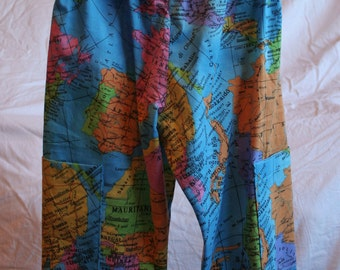 World Map Toddler Trousers Aged 12-18 months